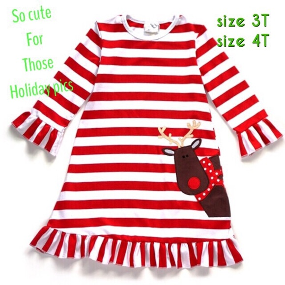 f16eff14c4180 Dresses | Holiday Toddler Girl Dress 3t 4t So Cute | Poshmark